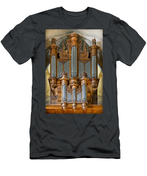 Cahors Cathedral Organ Men's T-Shirt (Athletic Fit)