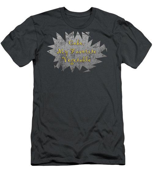 Cake My Favorite Vege Men's T-Shirt (Athletic Fit)