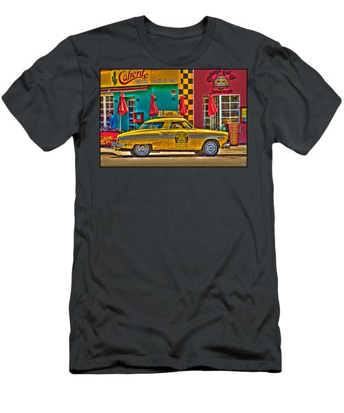 Men's T-Shirt (Athletic Fit) featuring the photograph Caliente Cab Co by Chris Lord