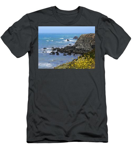 California Coast Men's T-Shirt (Slim Fit) by Laurel Powell