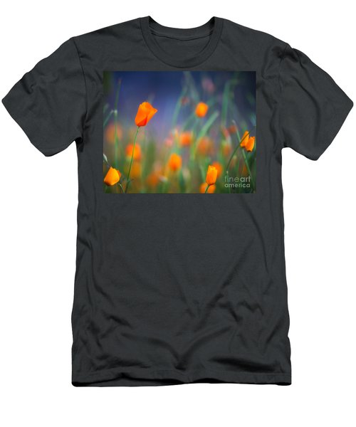 California Poppies 2 Men's T-Shirt (Athletic Fit)