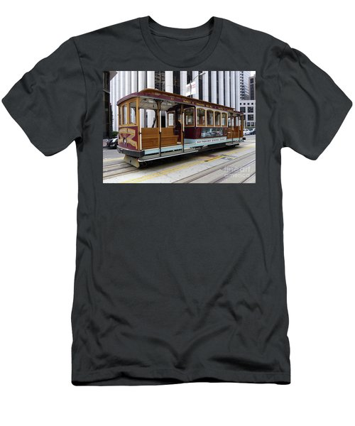 Men's T-Shirt (Slim Fit) featuring the photograph California Street Cable Car by Steven Spak