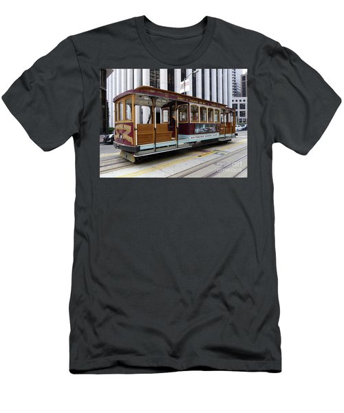 California Street Cable Car Men's T-Shirt (Athletic Fit)