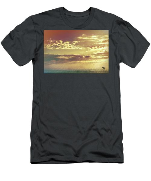 California Sunset Surfer Men's T-Shirt (Athletic Fit)
