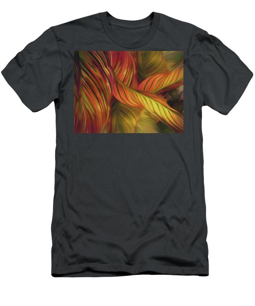 Men's T-Shirt (Athletic Fit) featuring the mixed media Calla Dream 16 by Lynda Lehmann