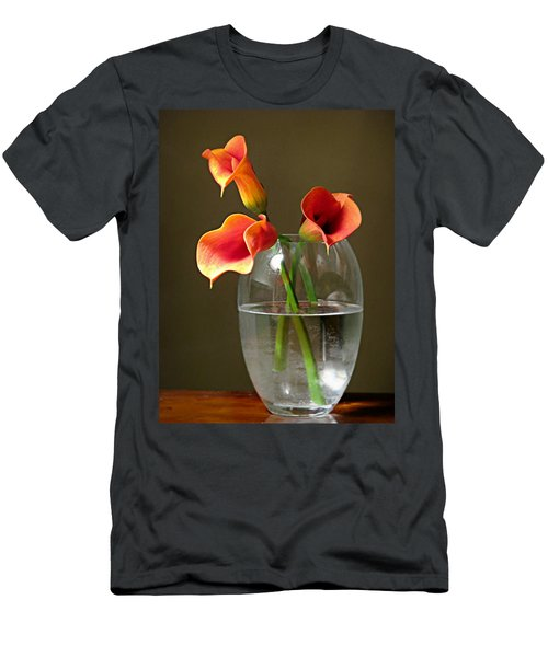 Calla Lily Stems Men's T-Shirt (Slim Fit) by Diana Angstadt