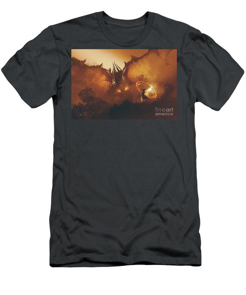 Calling Of The Dragon Men's T-Shirt (Athletic Fit)