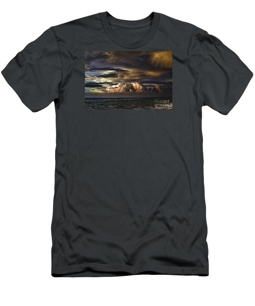 Men's T-Shirt (Slim Fit) featuring the photograph Calm Before Storm by Judy Wolinsky