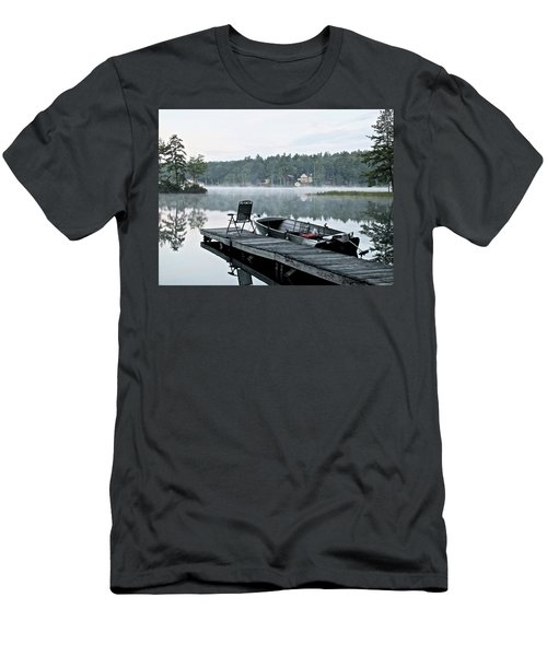 Calm Morning On Little Sebago Lake Men's T-Shirt (Athletic Fit)