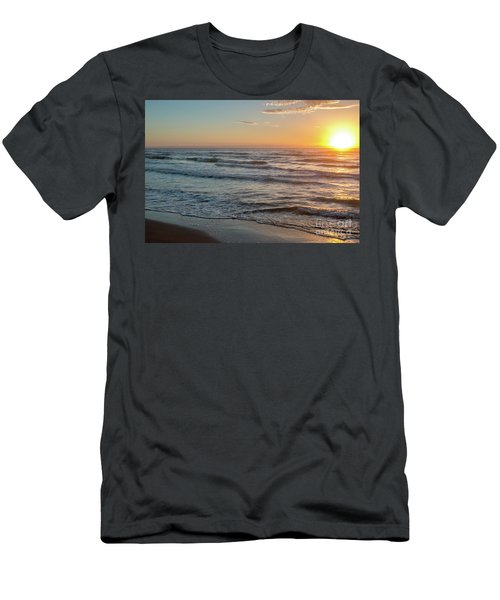 Calm Water Over Wet Sand During Sunrise Men's T-Shirt (Athletic Fit)