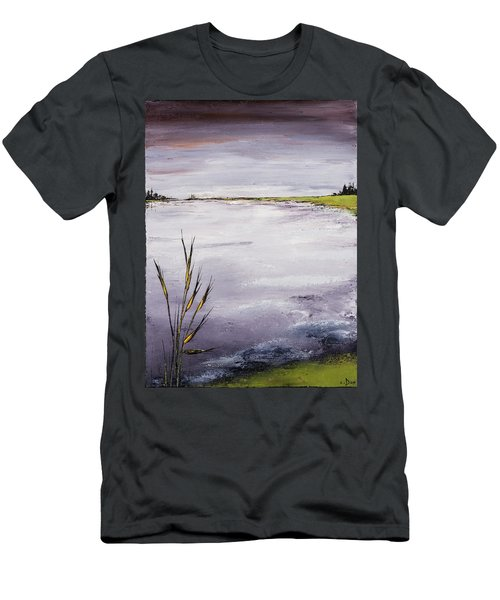 Calmer Water Men's T-Shirt (Slim Fit) by Carolyn Doe