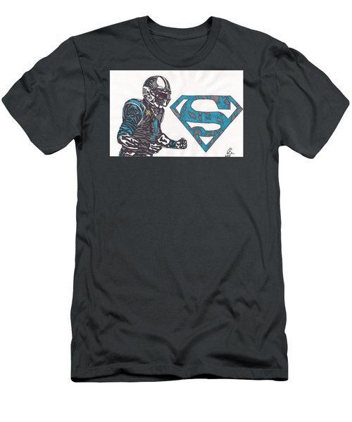 Cam Newton Superman Edition Men's T-Shirt (Slim Fit) by Jeremiah Colley