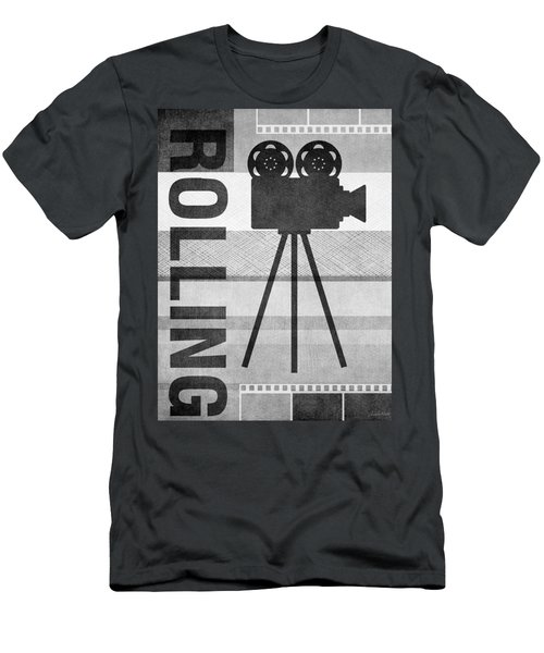 Cameras Rolling- Art By Linda Woods Men's T-Shirt (Athletic Fit)