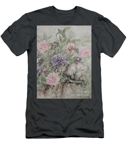 Camouflaged Men's T-Shirt (Slim Fit) by Kim Tran