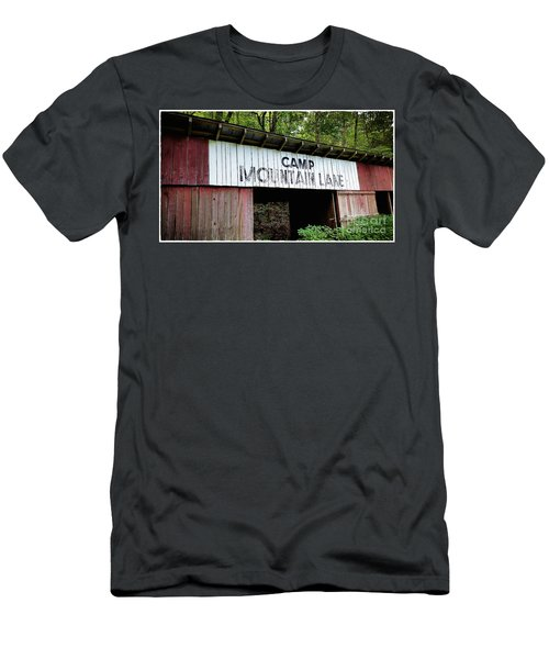 Camp Mountain Lake Horse Stables - Vintage America Men's T-Shirt (Athletic Fit)