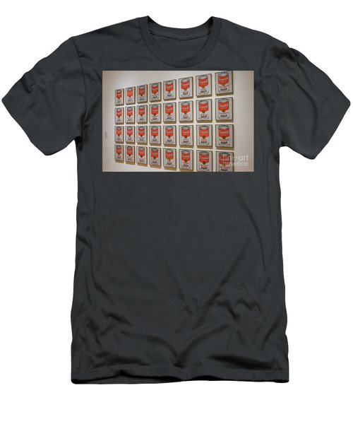 Men's T-Shirt (Slim Fit) featuring the photograph Campbell Soup By Warhol by Patricia Hofmeester