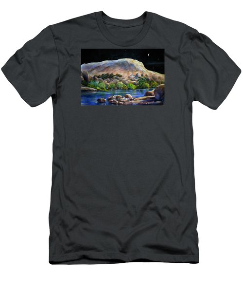 Camping In The Moonlight Men's T-Shirt (Athletic Fit)