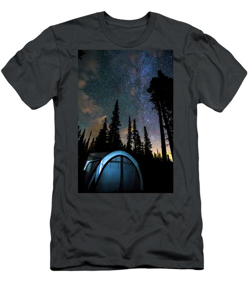 Men's T-Shirt (Slim Fit) featuring the photograph Camping Star Light Star Bright by James BO Insogna