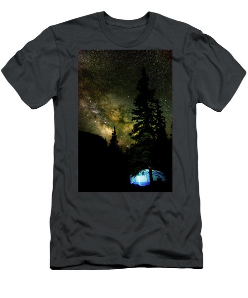 Camping Under The Milky Way Men's T-Shirt (Athletic Fit)