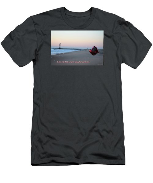 Can We Stay Here... Men's T-Shirt (Slim Fit) by Robert Banach