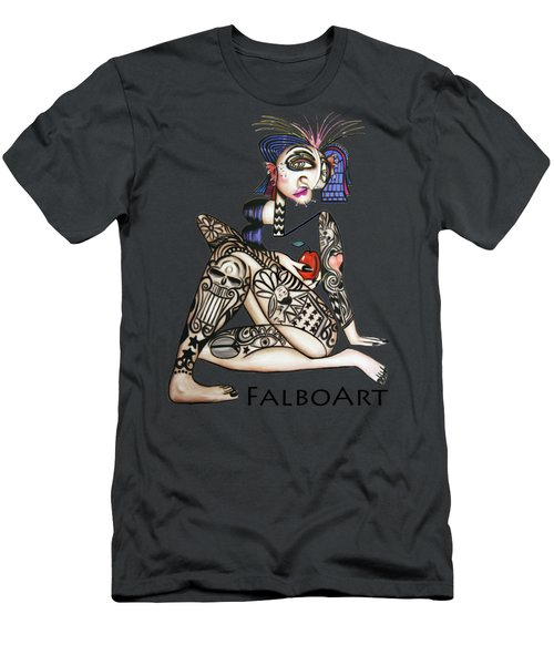 Men's T-Shirt (Athletic Fit) featuring the painting Can You See Me Know by Anthony Falbo
