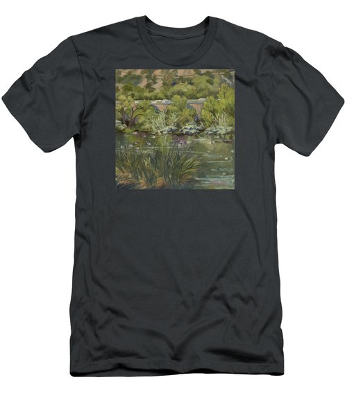 Canadian Geese La River Men's T-Shirt (Slim Fit) by Jane Thorpe