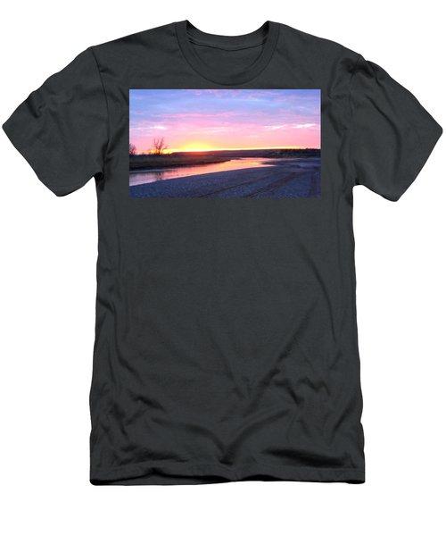 Canadian River Sunset Men's T-Shirt (Athletic Fit)