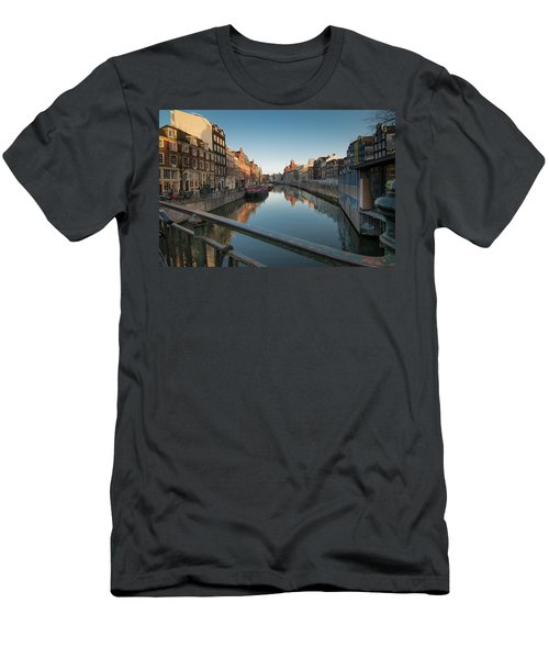 Canal From The Bridge Men's T-Shirt (Athletic Fit)