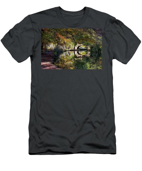 Canal Path In Autumn Men's T-Shirt (Athletic Fit)