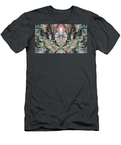 Men's T-Shirt (Slim Fit) featuring the digital art Alignment by Mark Greenberg