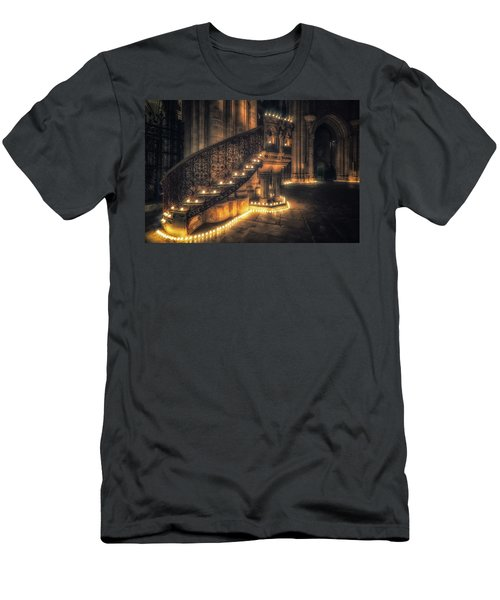 Men's T-Shirt (Athletic Fit) featuring the photograph Candlemas - Pulpit by James Billings