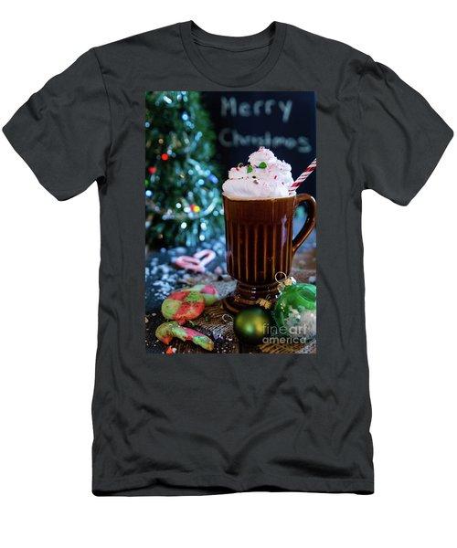 Candy Cane Twist Men's T-Shirt (Slim Fit) by Deborah Klubertanz