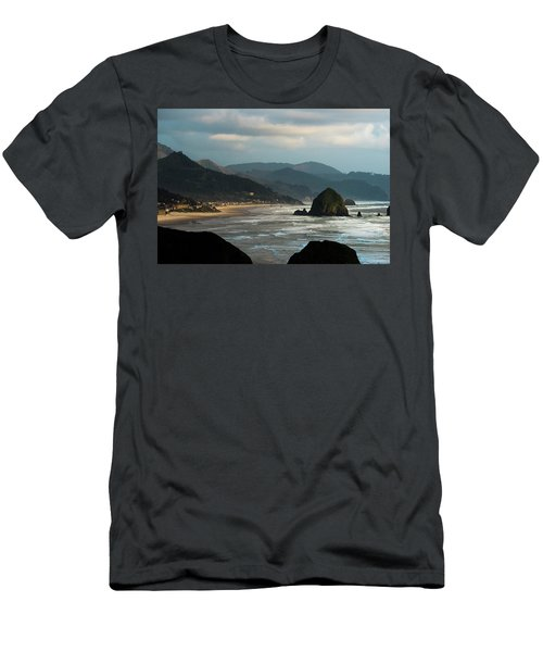 Cannon Beach, Oregon Men's T-Shirt (Athletic Fit)