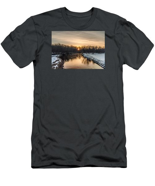 Men's T-Shirt (Slim Fit) featuring the photograph Cannon River Sunrise by Dan Traun
