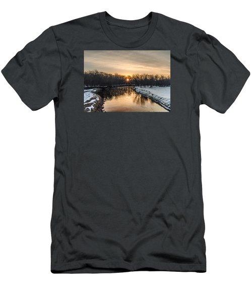 Cannon River Sunrise Men's T-Shirt (Slim Fit) by Dan Traun