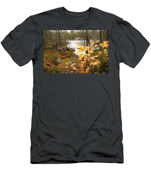 Canoe At Little Bass Lake Men's T-Shirt (Athletic Fit)
