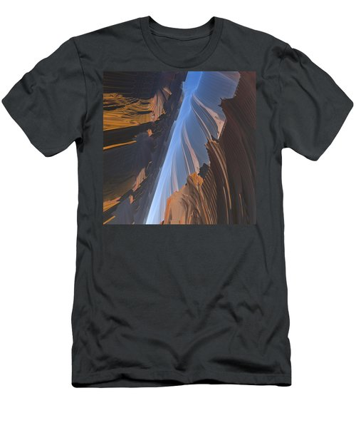 Men's T-Shirt (Slim Fit) featuring the digital art Canyon by Lyle Hatch