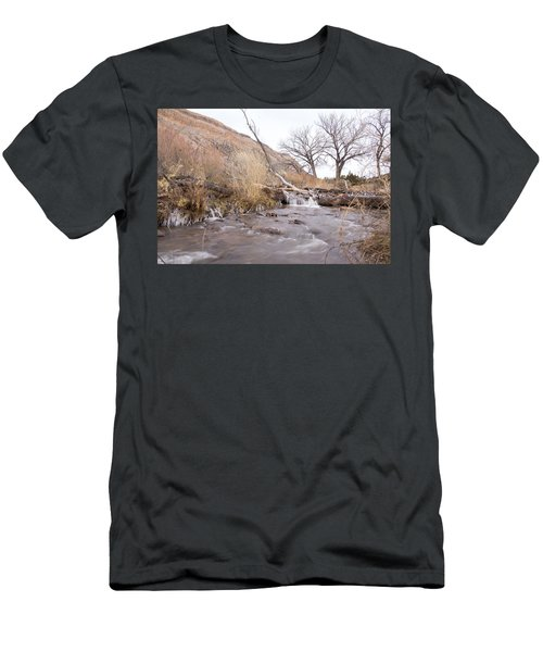 Canyon Stream Current Men's T-Shirt (Slim Fit) by Ricky Dean