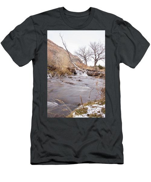 Canyon Stream Falls Men's T-Shirt (Slim Fit) by Ricky Dean