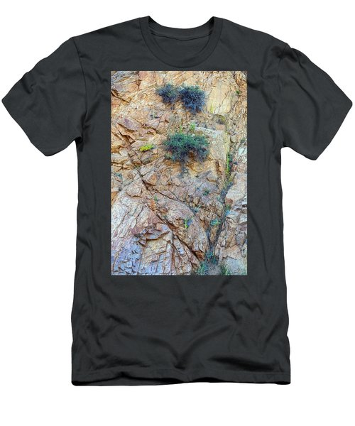Men's T-Shirt (Athletic Fit) featuring the photograph Canyon Vegetation by James BO Insogna