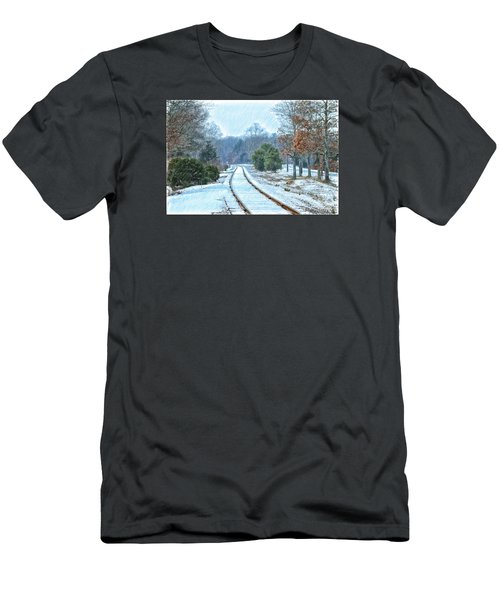 Cape Cod Rail And Trail Men's T-Shirt (Slim Fit) by Constantine Gregory