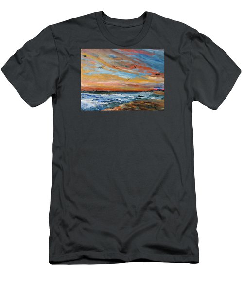 Cape Cod Sunrise Men's T-Shirt (Slim Fit) by Michael Helfen