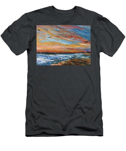 Cape Cod Sunrise Men's T-Shirt (Athletic Fit)