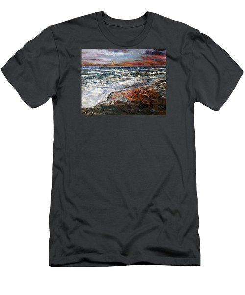 Cape Cod Sunset 1 Men's T-Shirt (Slim Fit) by Michael Helfen
