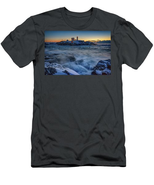 Cape Neddick In The Cold Men's T-Shirt (Athletic Fit)