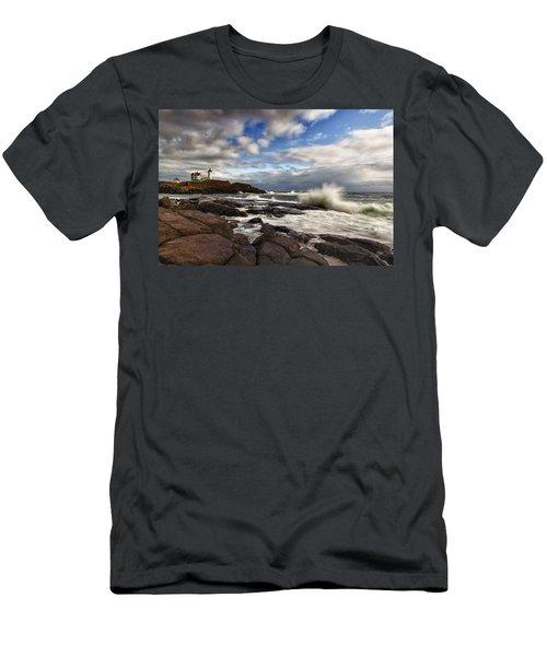 Cape Neddick Maine Men's T-Shirt (Athletic Fit)