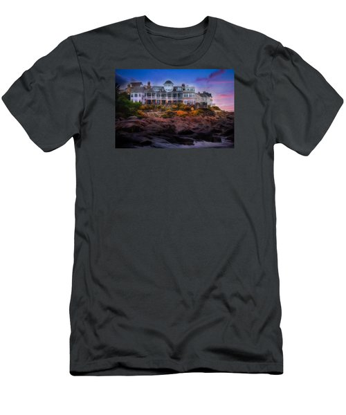 Men's T-Shirt (Slim Fit) featuring the photograph Cape Neddick Maine Scenic Vista by Shelley Neff