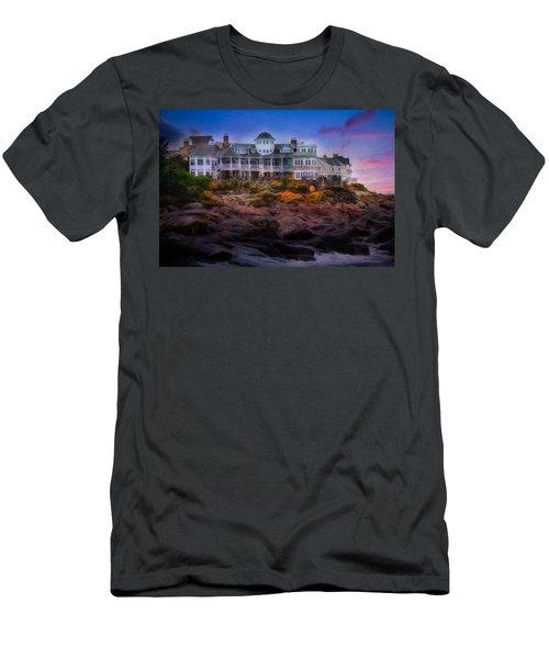 Cape Neddick Maine Scenic Vista Men's T-Shirt (Athletic Fit)