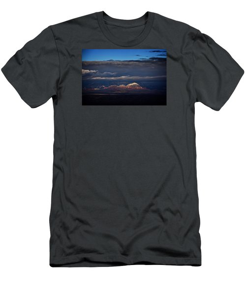 Men's T-Shirt (Slim Fit) featuring the photograph Capitol Butte In Sedona With Snow by Ron Chilston