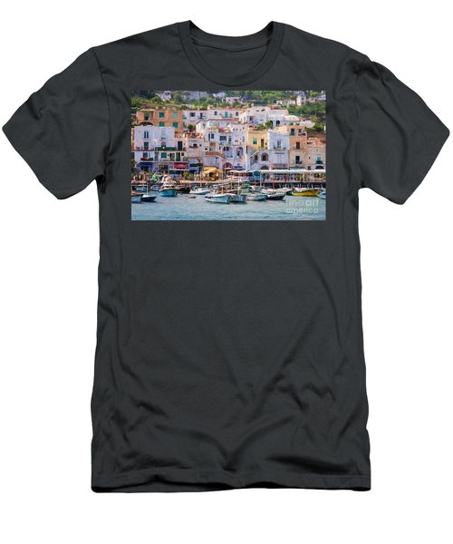 Capri Boat Harbor Men's T-Shirt (Athletic Fit)